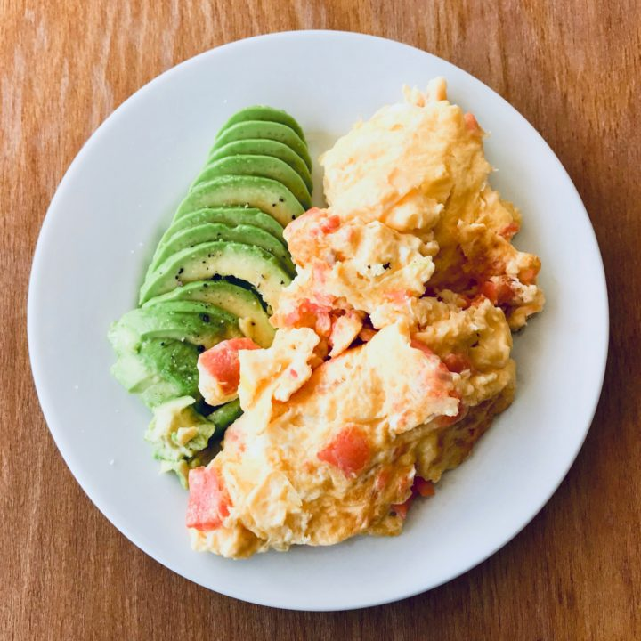 Salmon omelet. Simple recipe