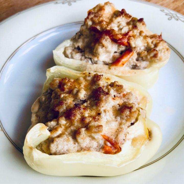 Keto recipe. Stuffed peppers