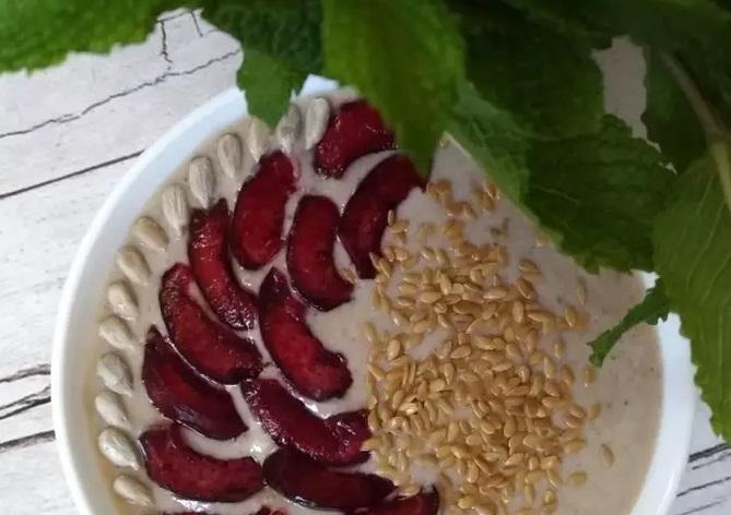 Healthy breakfast porridge