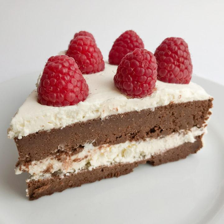 Keto dessert. Flourless Chocolate Cake