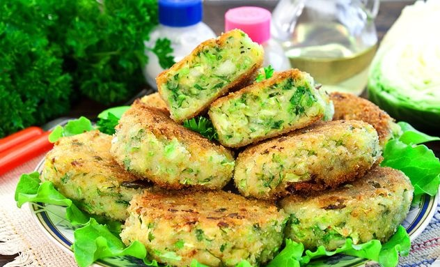 Best Cabbage and zucchini cutlets with potatoes and cheese