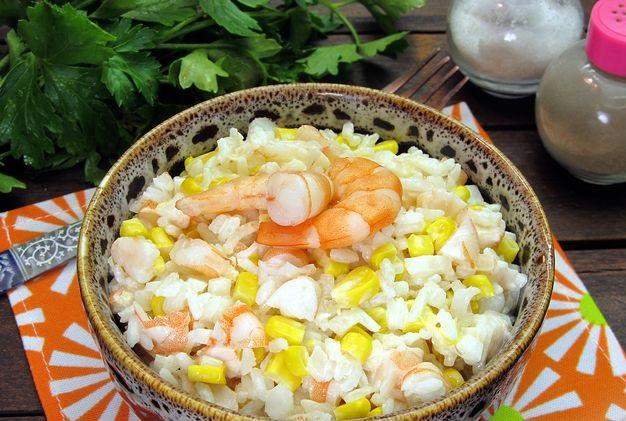 Shrimp, Rice and Corn Salad