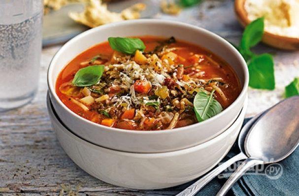 Minestrone. Italian soup