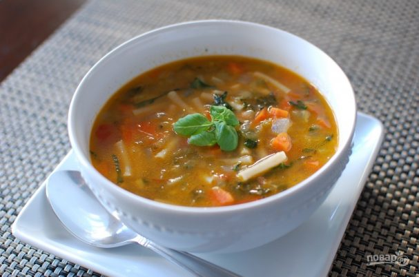 Minestrone (vegetable soup)