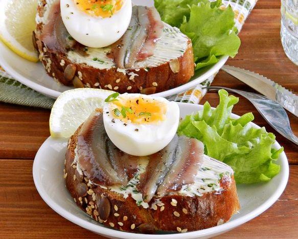 Best Sprat and egg sandwiches