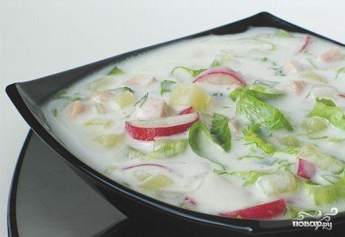 Okroshka without potatoes