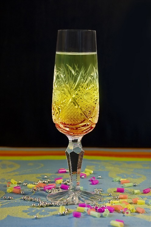 Champagne and gin cocktail