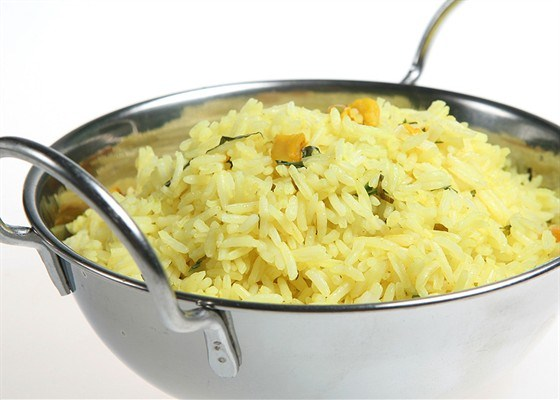 Rice with lemon and mint