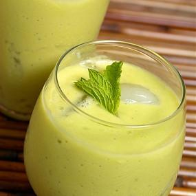 Coconut and avocado drink
