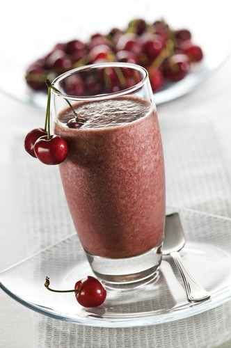 Cherry cocoa milkshake