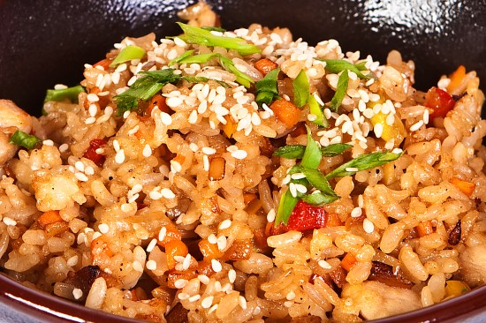 Thai Fried Rice with Peanut Butter
