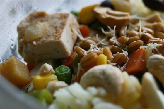 Vegetarian rice with tofu