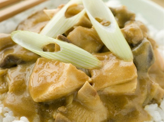 Rice with chicken, mushrooms and truffles