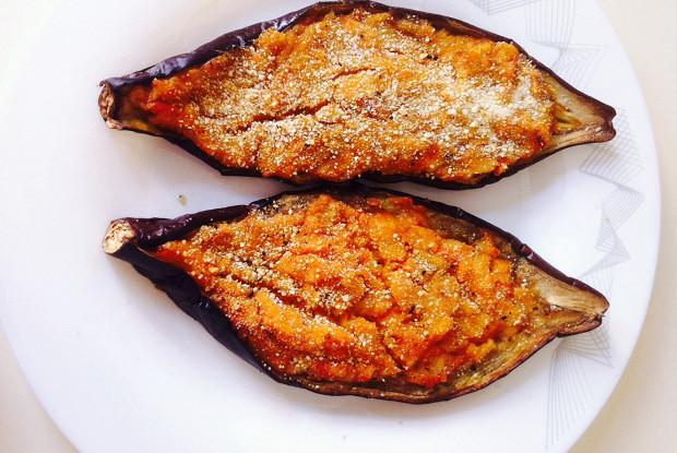 Eggplant with rice and yogurt