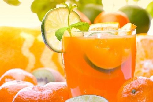 Orange blast with bourbon
