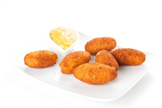 Rice and ham croquettes with parmesan