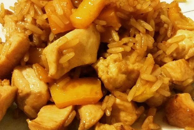 Chahan tori (Chicken fried rice)