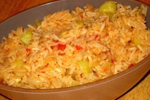 Rice with zucchini