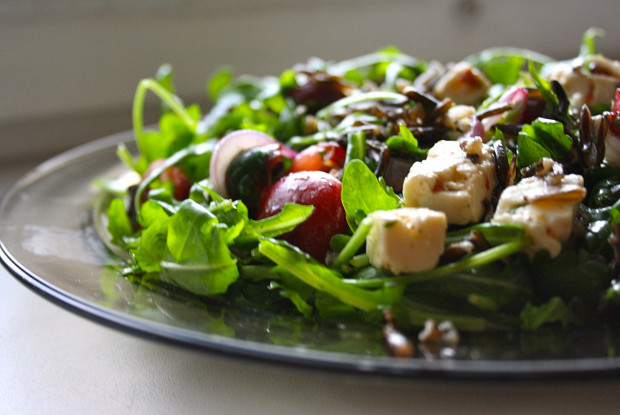 Cherry and wild rice salad