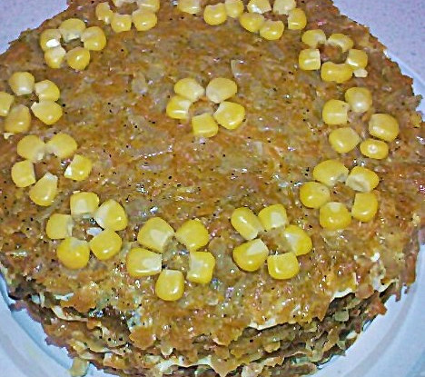 Liver cake with rice