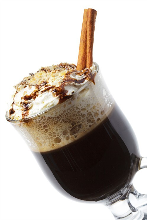 Rum cocktail with cocoa liqueur
