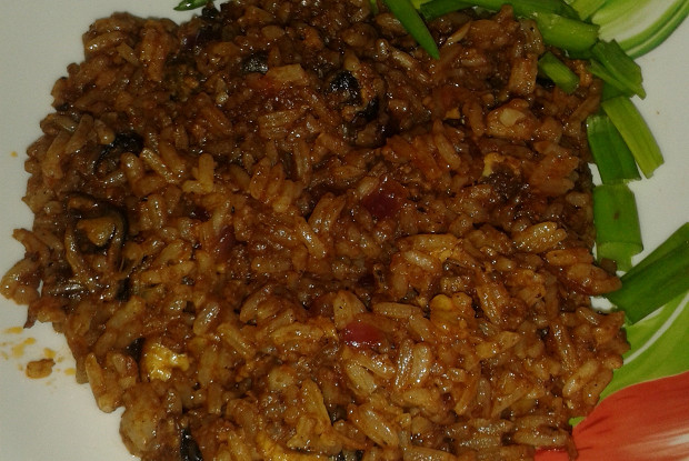 Spicy rice with mussels