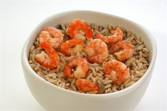 Rice with fish and seafood