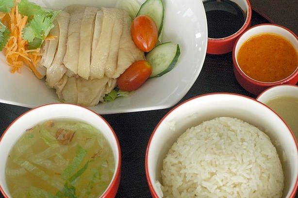 Hainan style chicken with rice