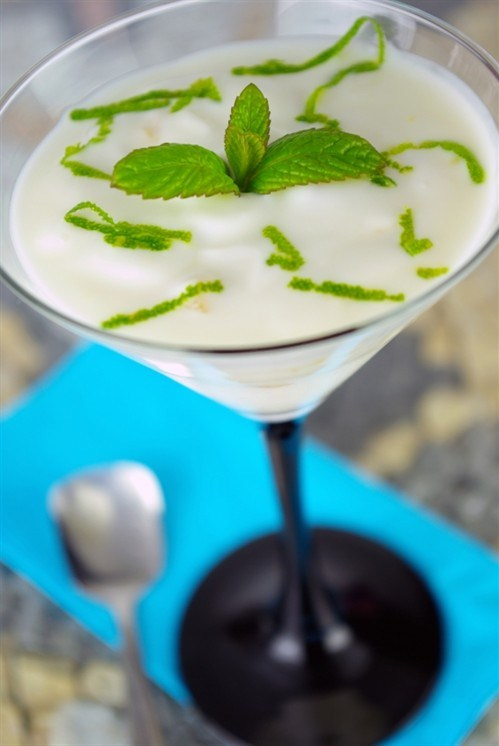 Gin cocktail with mint liqueur