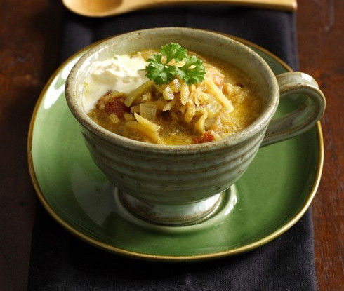 Broth with rice