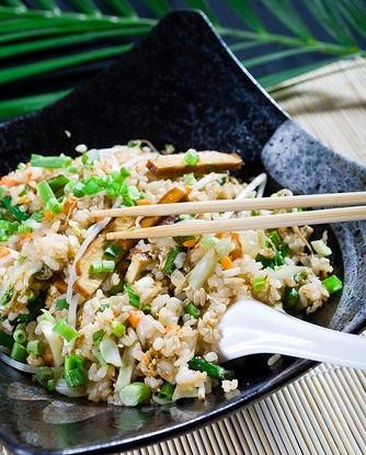 Rice fried with tuna