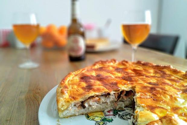 Fish pie with rice