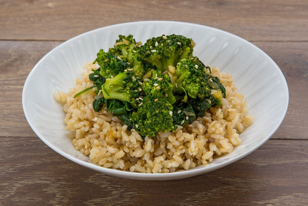 Rice with broccoli in Chinese