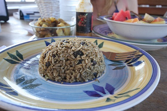 Aromatic rice with beans