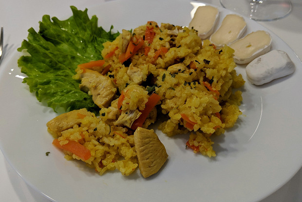 Curry rice with chicken in a slow cooker