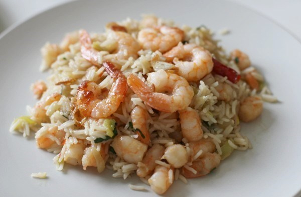 Rice with shrimps and squid