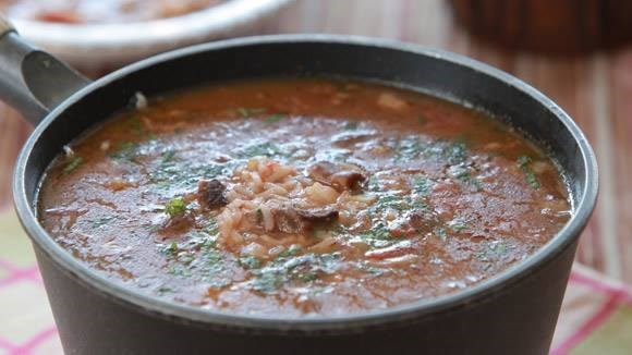 Armenian lamb soup with rice