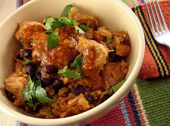 Chicken and Rice with Black Beans