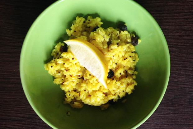 Nimbu Chawal (lemon rice)