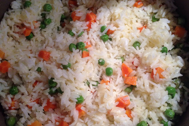 Children's rice with vegetables