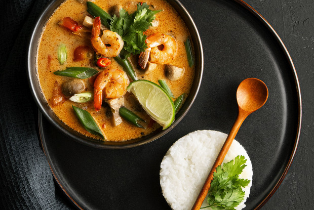 Tom yum with rice