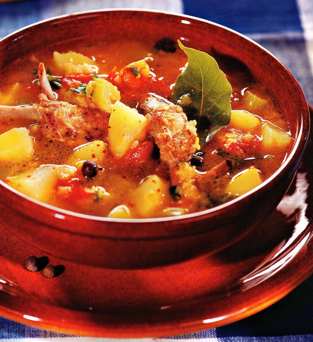 Lamb ribs soup