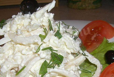 SALAD WITH SQUID AND BULGARIAN PEPPER