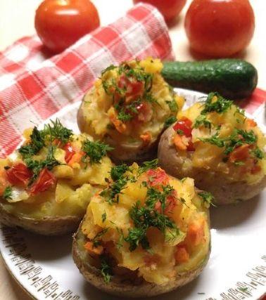 Tasty  Stuffed potatoes