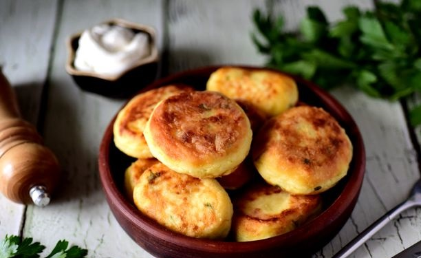 Potato cutlets with feta cheese