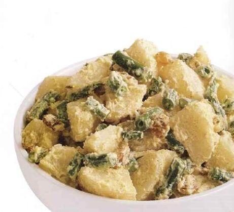 Potato salad with beans