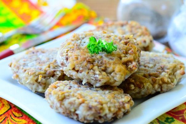 Buckwheat and potato cutlets