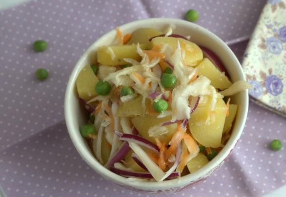 Potato salad with sauerkraut