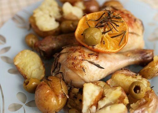 Mediterranean chicken baked with potatoes