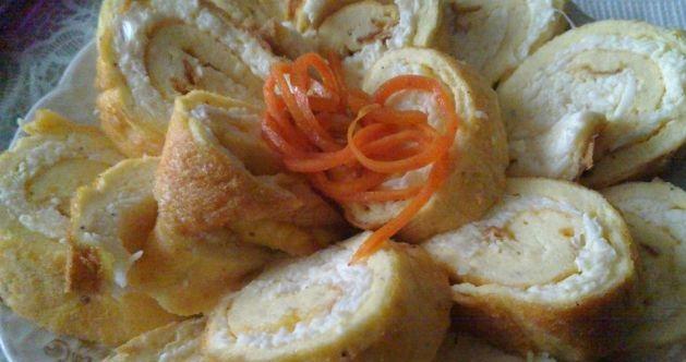 Omelette snack roll